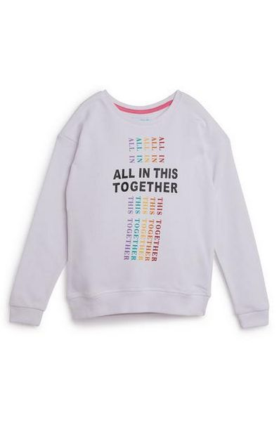 Older Girl All In This Together White Crew Neck Sweatshirt offer at $7