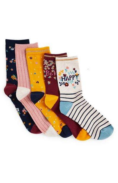 5-Pack Girls' Floral Ankle Socks offer at $5
