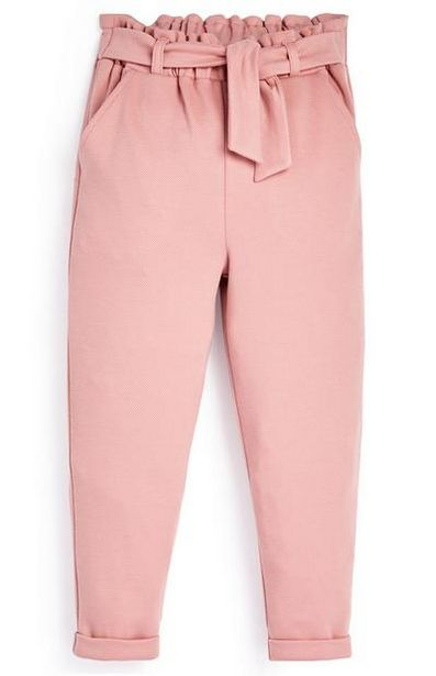 Younger Girl Pink Paperbag Pants offer at $9