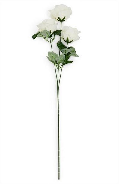 Faux Single Stem White Roses offer at $2.5