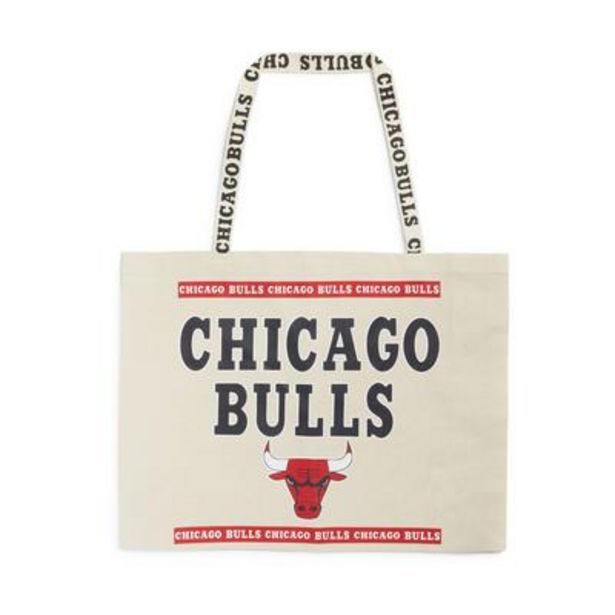 Extra Large Ivory NBA Chicago Bulls Canvas Shopper deals at $7