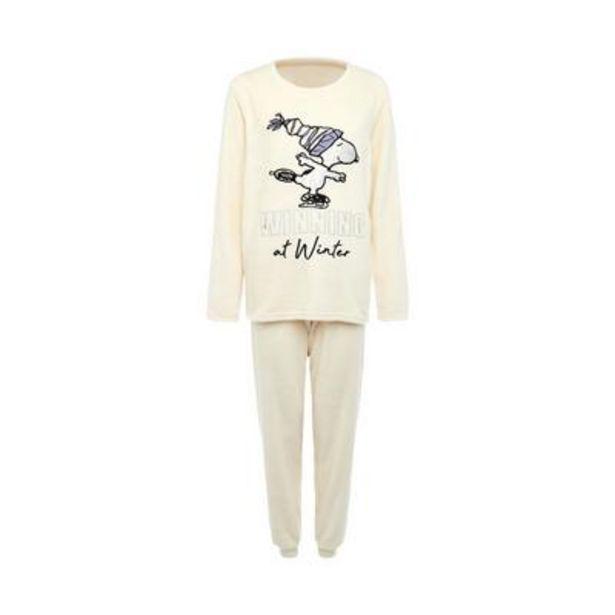 Ivory Snoopy Print Sherpa Pajamas deals at $15