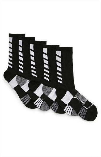 5-Pack Black Performance Socks deals at $8