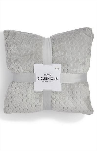 2-Pack Gray Soft Textured Cushions offer at $12