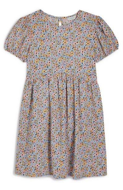 Older Girl Floral Puff Sleeve Dress offer at $13