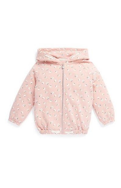 Younger Girl Pink Zip Up Hoodie offer at $9