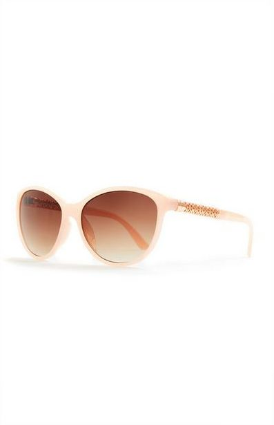 Pink Round Metal Arm Detail Sunglasses offer at $4.5