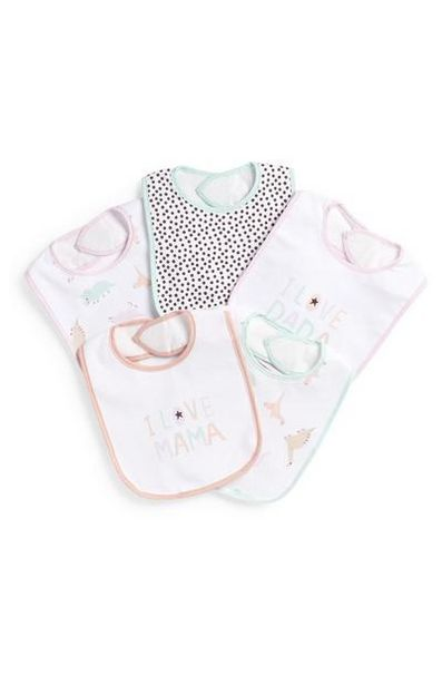 Newborn Plastic Bibs, 5 Pack deals at $5.5