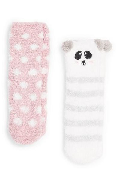 2-Pack Girl's Panda Socks offer at $5