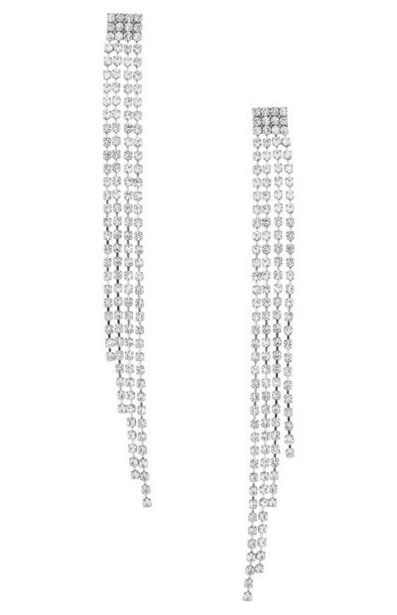 Silver Chain Drop Earrings offer at $5