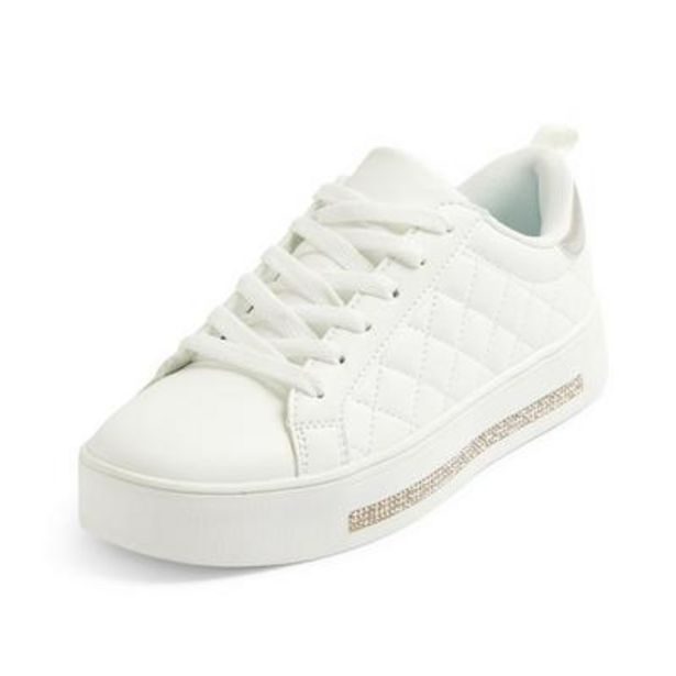 White Diamond Quilted Low Tops deals at $18