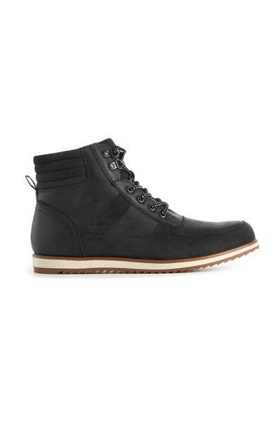 Black Biker Lace Up Boots offer at $27