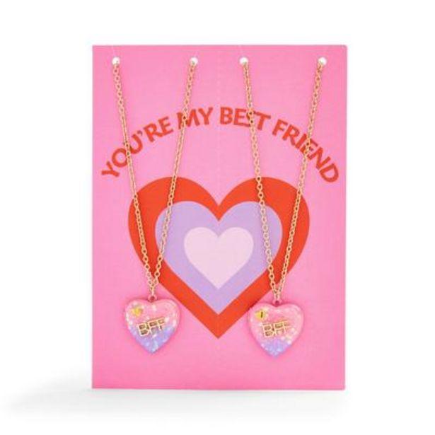 Best Friend Friendship Necklace Birthday Card deals at $4