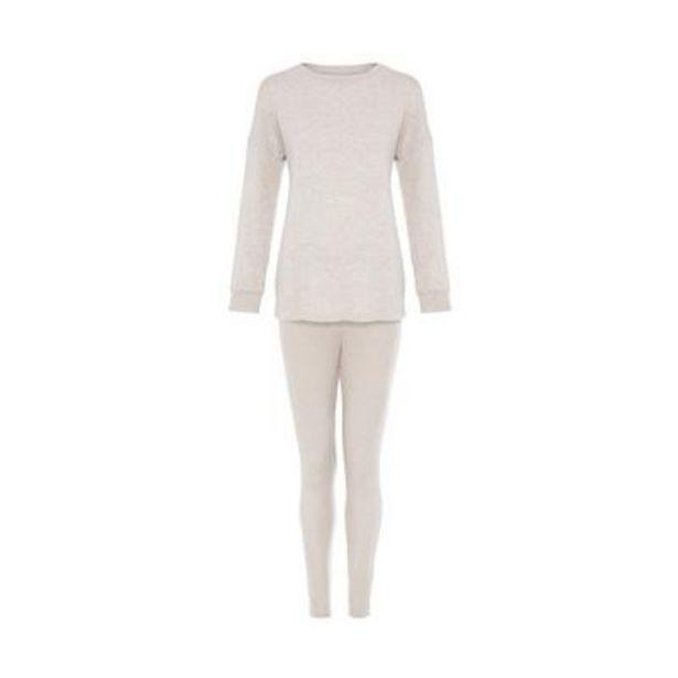Primark Cares Cream Supersoft Ribbed Pajamas deals at $16