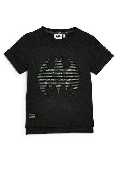 Younger Boy Black Embossed Batman T-Shirt deals at $8
