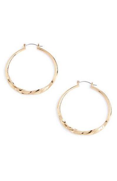 Large Twist Hoop Earrings offer at $2.5