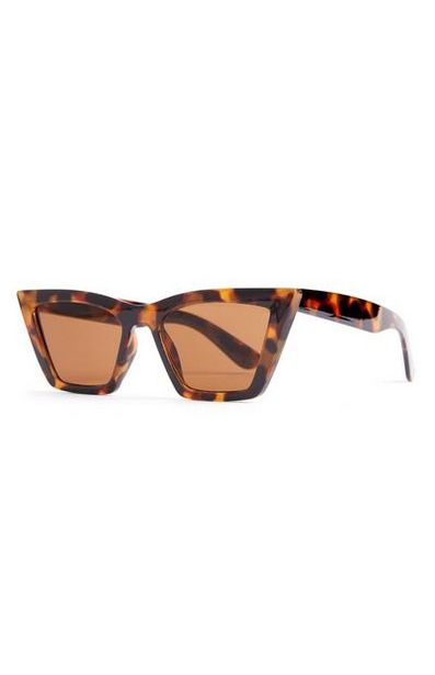 Faux Tortoiseshell Chunky Stretched Cat Eye Sunglasses offer at $3.5