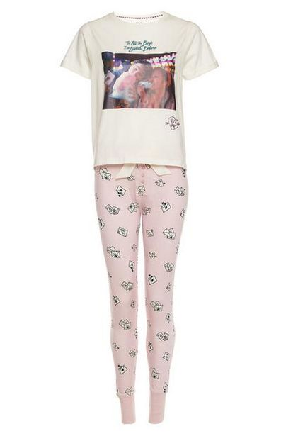 To All The Boys Pink Pastel Pajama Set offer at $16