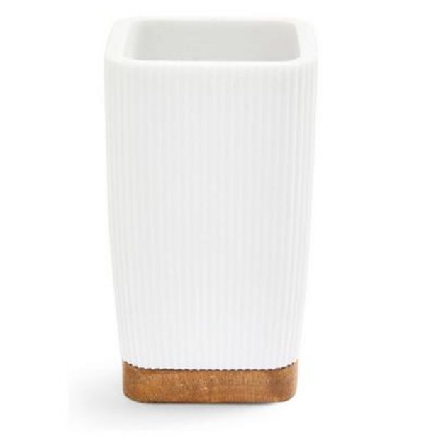 White Elevated Bathroom Tumbler deals at $4.5