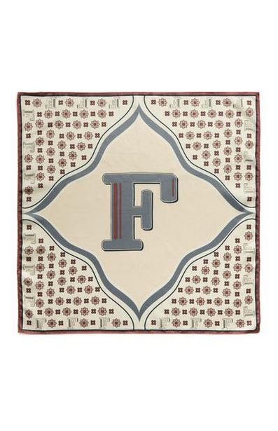 Ivory F Initial Neckerchief deals at $3.5