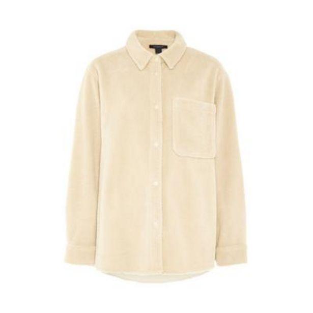 Ivory Fleece Pocket Shirt deals at $15