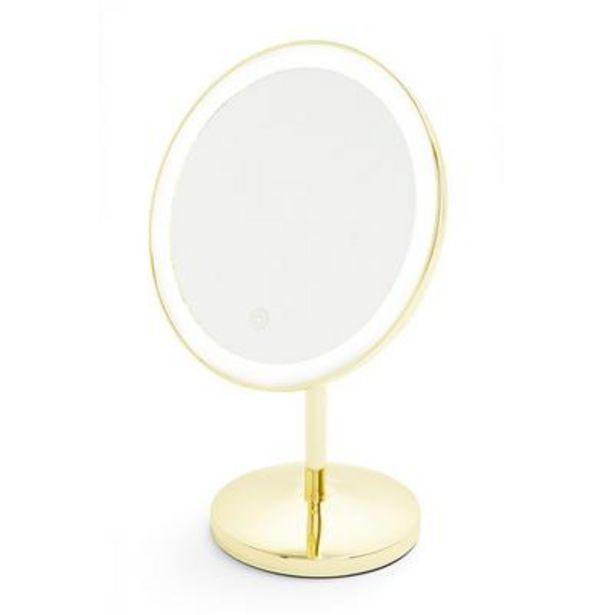 Gold Tone Round Light Up Vanity Mirror deals at $18