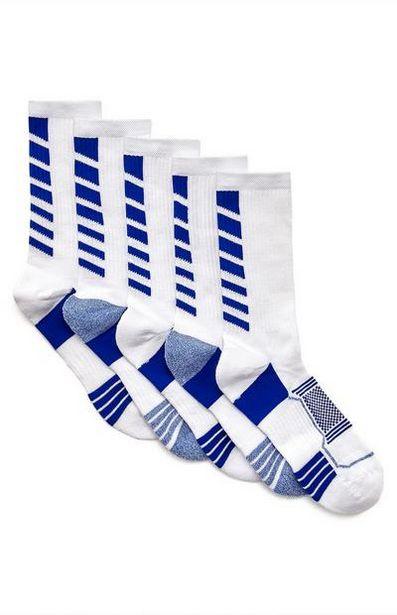 5-Pack White Performance Socks deals at $8