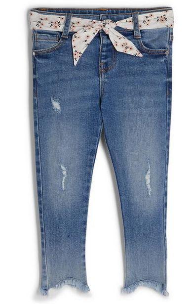 Younger Girl Blue Floral Belted Jeans offer at $13