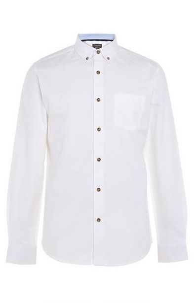 White Classic Oxford Shirt deals at $16