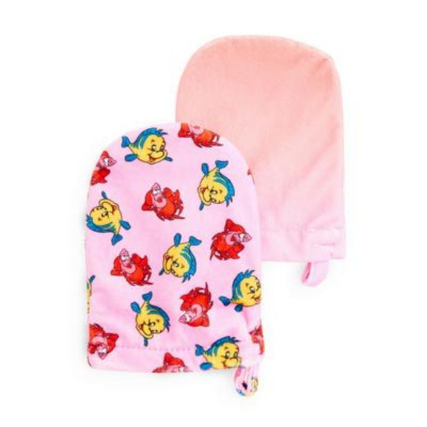 Pink Disney The Little Mermaid Sebastian Cleanser Mitts, 2 Pack deals at $3.5