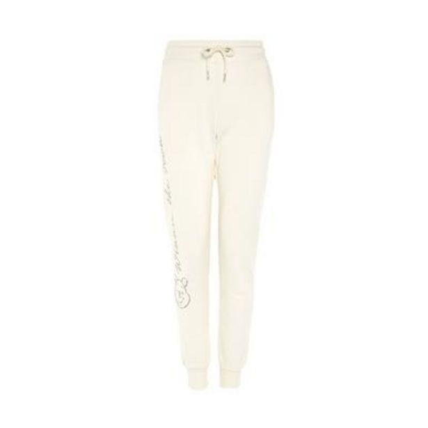 Ivory Side Print Winnie The Pooh Cares Joggers deals at $14