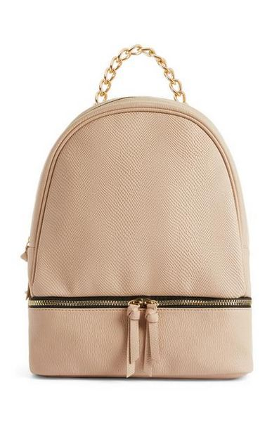Peach Zip-Base Backpack offer at $14