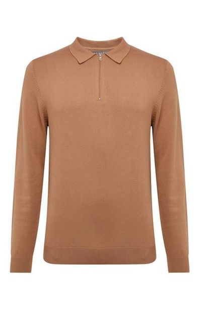 Beige Polo Sweater deals at $20
