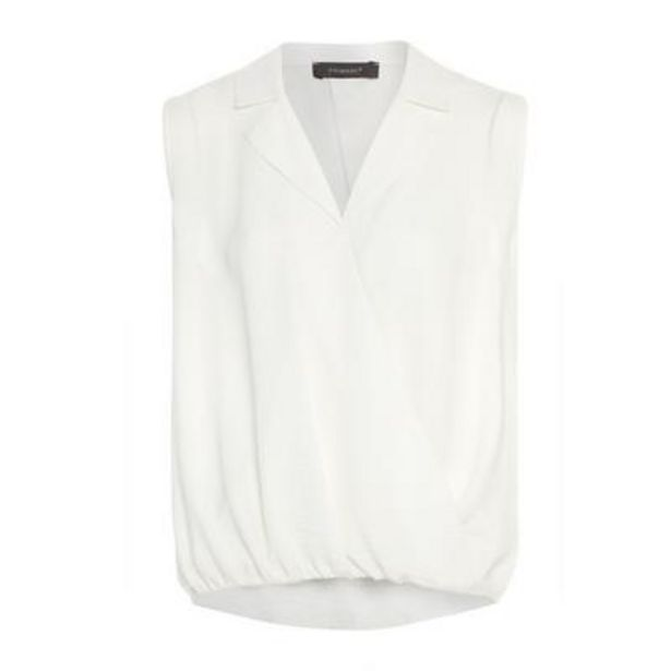 Ivory Wrap Sleeveless Blouse deals at $11
