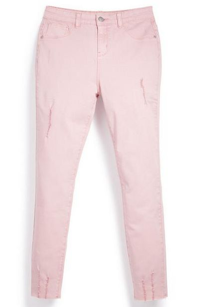 Older Girl Pink Ripped Twill Pants offer at $10