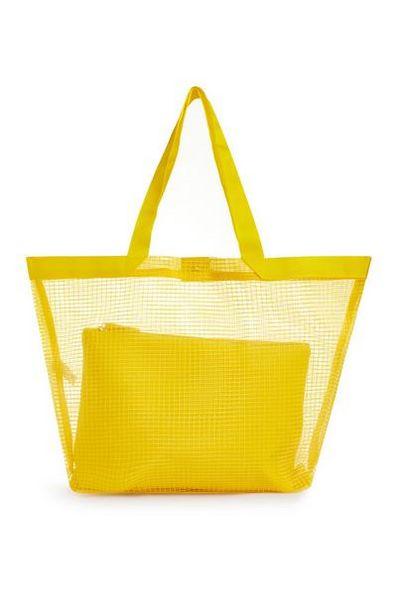 Yellow Cross Hatch Beach Bag offer at $12