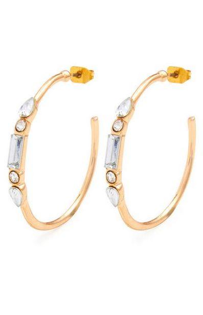 Rhinestone Hoop Earrings offer at $2.5