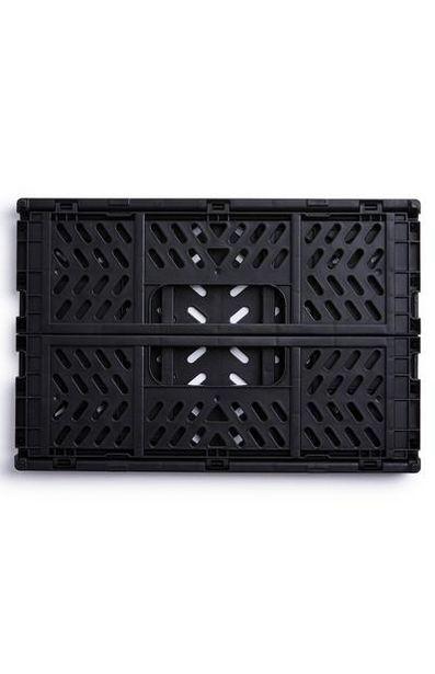 Black Mini Collapsible Plastic Crate deals at $2.5