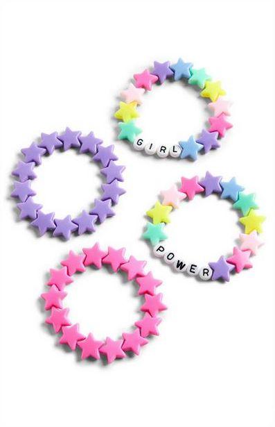 Pink And Purple Plastic Bracelet Set deals at $2.5
