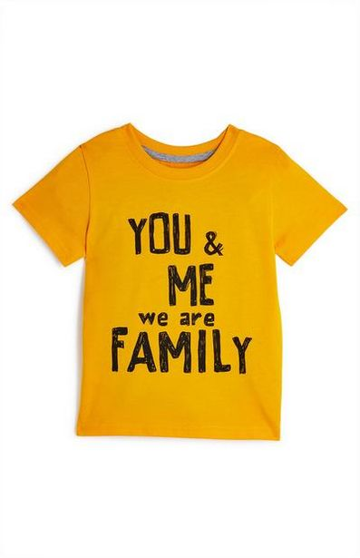 Baby Boy Yellow You And Me Family Print T-Shirt offer at $3