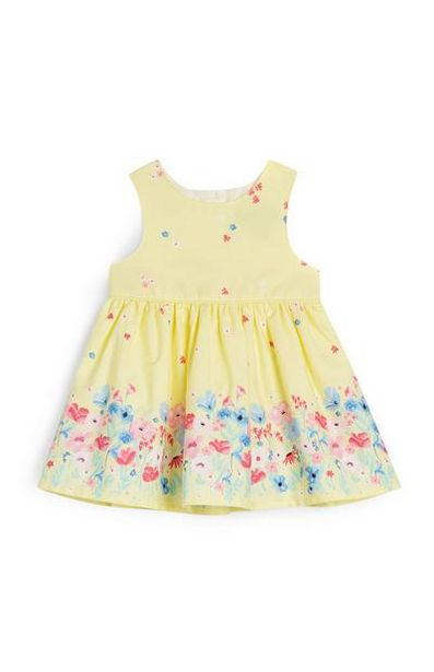 Baby Girl Yellow Flower Print Dress offer at $10