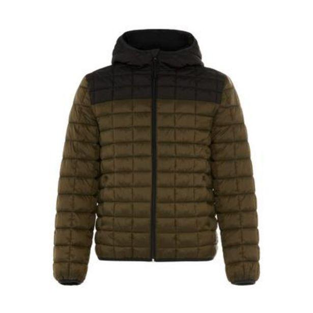 Primark Cares Olive Color Block Square Quilted Jacket deals at $28