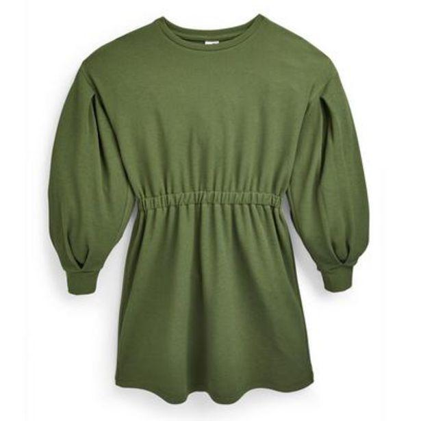 Older Girl Green Ponte Cinched Dress deals at $14