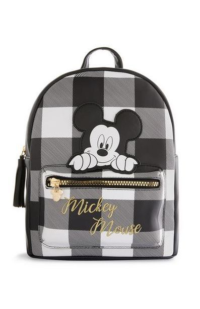 Black Mickey Mouse Check Backpack offer at $16
