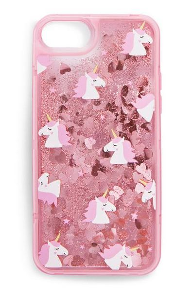 Pink Glitter Unicorn Phone Case offer at $4