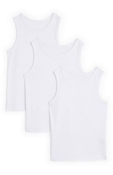 2-Pack Boy's White Thermal Tanks offer at $7