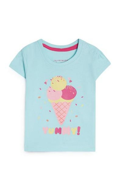 Baby Girl Blue Ice Cream T-Shirt offer at $3