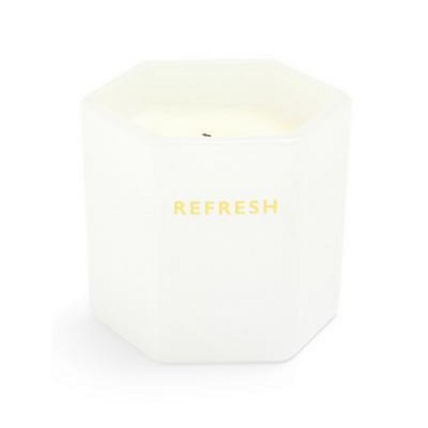 Refresh Hexagon Shaped Glass Votive Scented Candle deals at $3