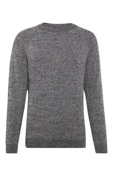 Grey Crew Neck Sweater offer at $15