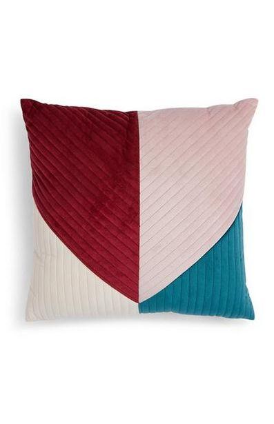 Color Block Velvet Cushion offer at $10